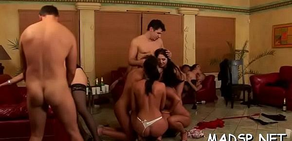 Just hot cuties and boys having a blast of a sex party