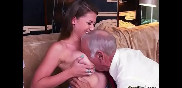 Luscious Teen Ivy Rose Gets Fondled By Old Men