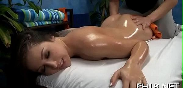 Hawt babe gets screwed hard and gives a massage!