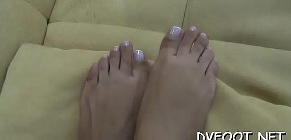 Sexy foot fetisj with a sexy beauty smashing a face with feet
