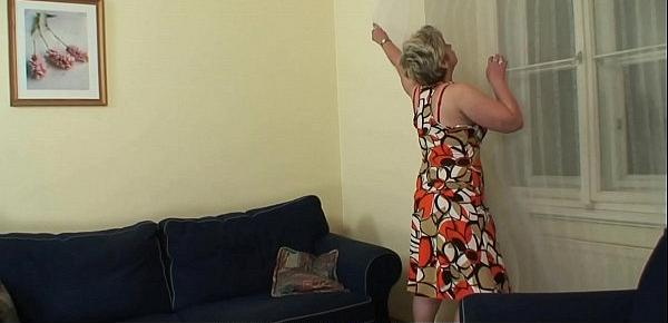 Hot-looking guy fucks 60 years old woman