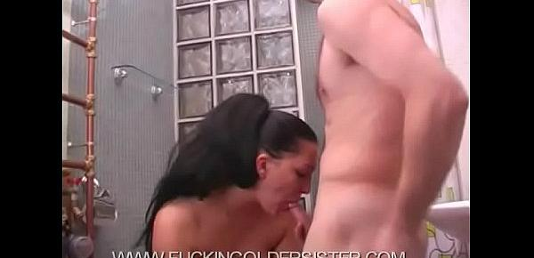 Teen boy fucks his older sister part 5