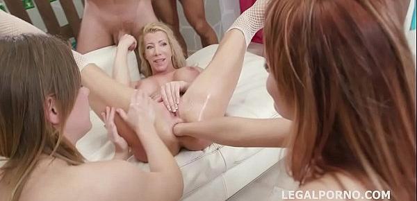 Happy B-day Lara De Santis! anal madness party with squirt cocktail, balls deep anal, DAP, TP & anal fisting