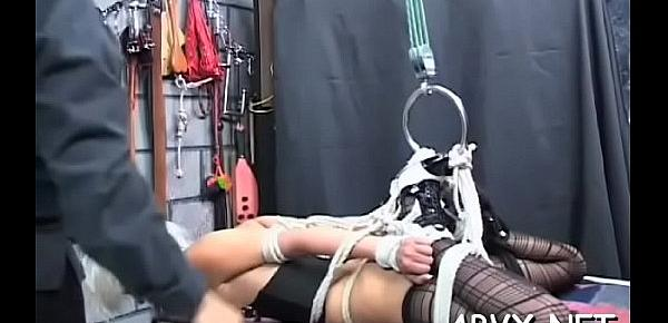 Naked beauties love the extreme bondage porn on livecam