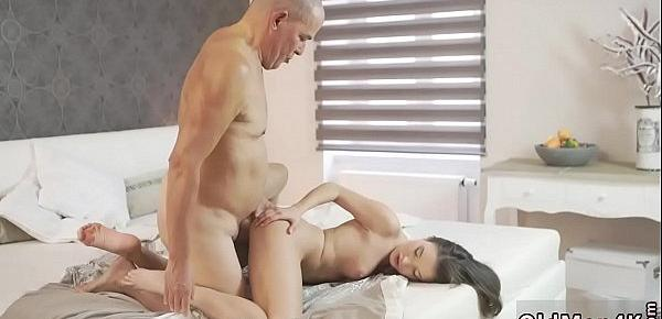 Old guy young girl Her Wet Dream