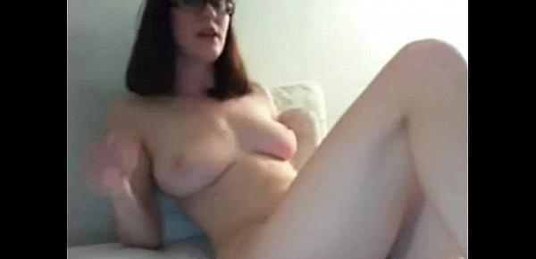 Amateur Busty Nerdy Girl Masturbating On Cam  chat nude sex video chat