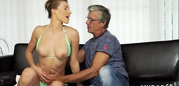 Daddy fetish Sex with her boyduddy´s father after swimming pool