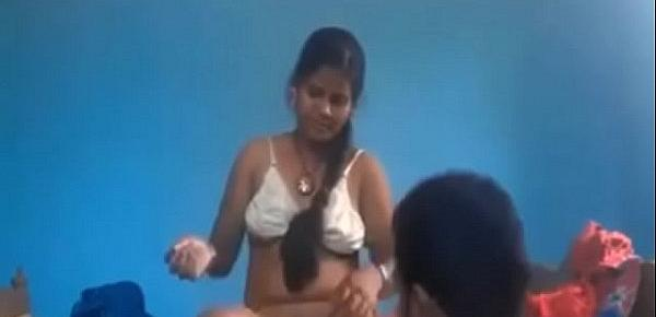 Horny desi north Indian couple fucking blue film style Porn