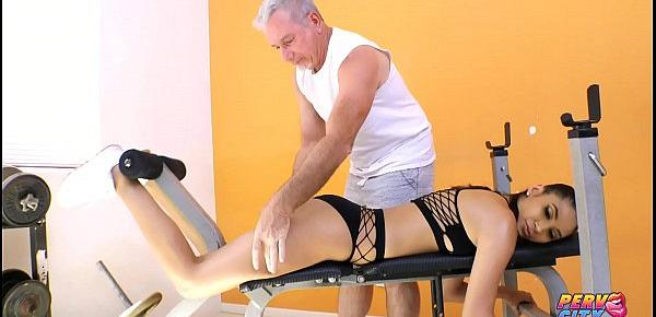 PervCity Teen Gianna Dior Fucks Her Much Older Trainer