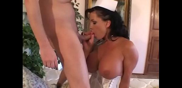 Sexy brunette shaved twat fucked by a stud then she gets facial