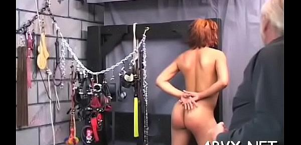 Taut bawdy cleft extreme bondage in home xxx video