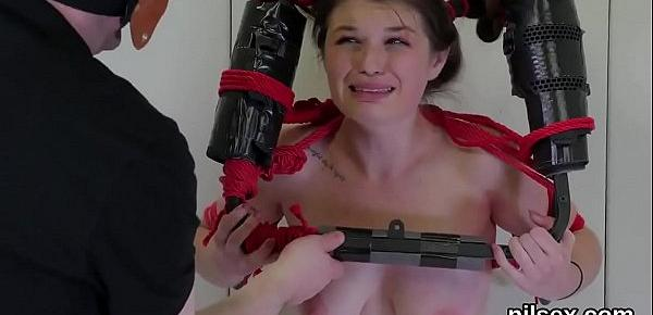 Hot girl is brought in anal loony bin for harsh therapy