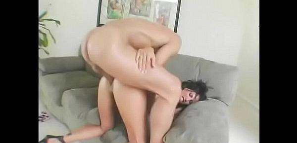 Hot sexy bitch Lezley Zen getting her sexual orifices cock filled