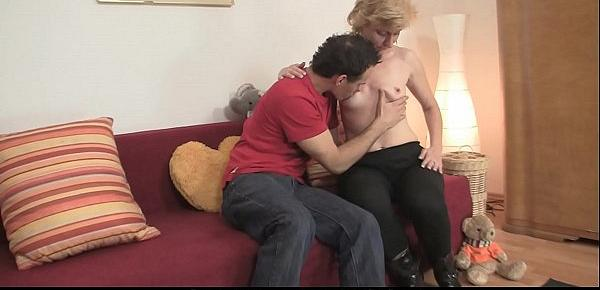 He fucks cute small tits old blonde woman