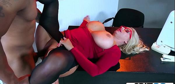 Spizoo - Karen Fisher is fucked by a Big Black Cock, big booty & big boobs