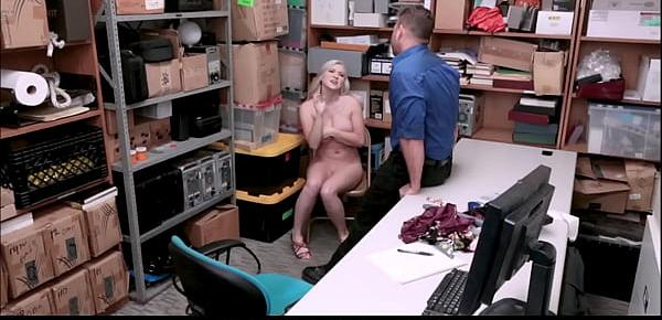 Blonde Big Tits Teen Shoplifter Fucked By Officer After Stealing Watch