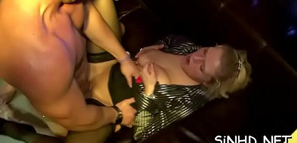 Loads of sexy pussies and nasty perky tits during orgy party