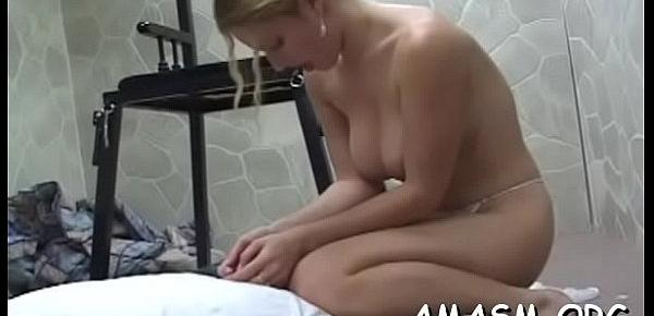 Woman smothering hubby in crazy home porn movie scene