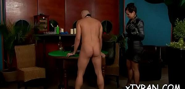 Submissive dude gets abused in sexy femdom fetish session