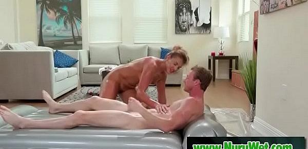 Milf Mercedes Carrera gets tricked into fucking while giving massage