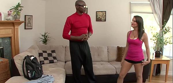 Yummy MILF has interracial fuck session with yoga instructor