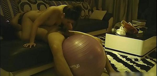 Chinese Amateur Couple Yoga Ball Sex Tape