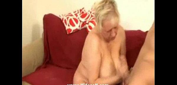German Granny is hungry for the Young cock