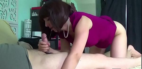 Step mom Teach Step son how to Fuck her Ass anal Creamp