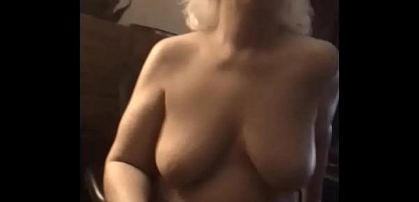 Cheryl Odom Hot MILF tired of hubs small cock, desperate Cheryl fucks myself on a big dildo.....a 11 inch black one at least till hubs friend gets there with his 11 inch cock