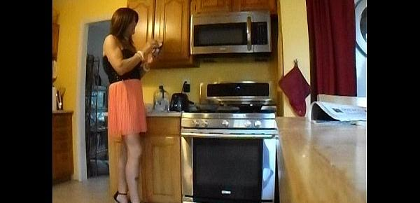 sissy makes grill cheese and self spanking