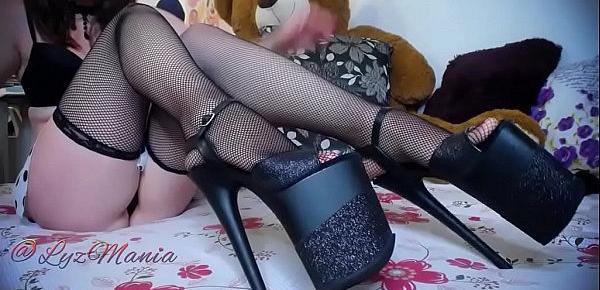Sexy girl dancing in high-heels