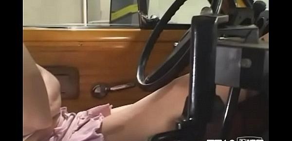 Sexy schoolgirl gets down on knees and gives hot pov oral job
