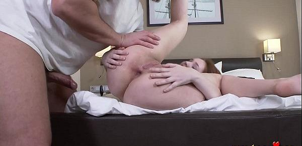 Anal Casting of a Red-haired girl, she did not expect this))