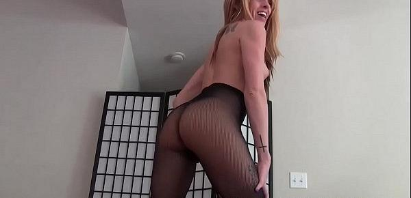 Let me tease your big cock in my sexy new fishnets JOI