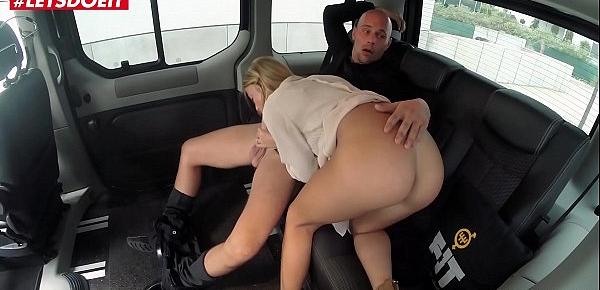 Natural Tits Porn video in a Taxi cab - Angela Christin