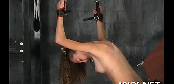 Naughty spanking and sex in amateur bondage episode scene