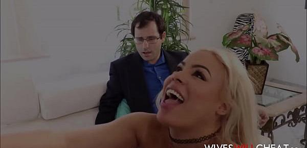 Hot Big Ass Latina Cheating Wife Luna Star Makes Nerdy Husband Watch Her Fuck Big Black Guy
