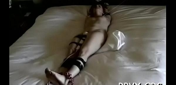 Nasty slut relishes some real rough bondage action