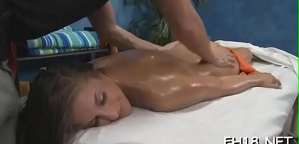 Babe with a ideal ass fucked by masseur