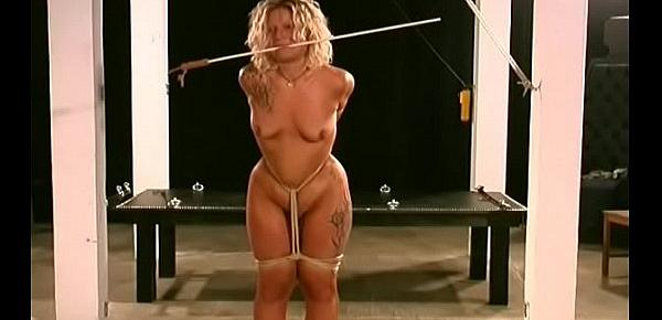 Lustful woman gets tits torture xxx in harsh bdsm video