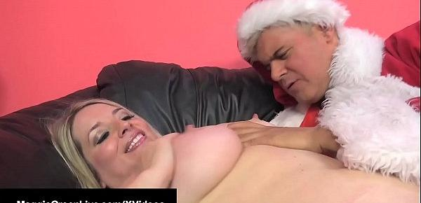 XXXMas Fuck! Maggie Green Banged By St.Nick & His BBC Helper