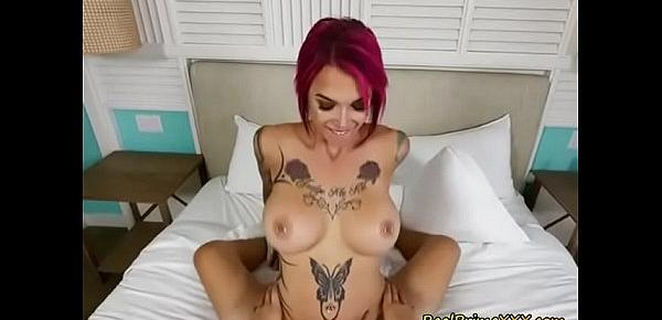 Chesty Babe Anna Bell Peaks Sucks And Rides Big Cock