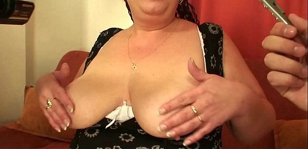 Two buddy fuck older big boobs plumper