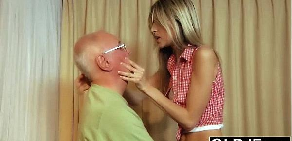 Old Young Gina wants cock in her pussy she likes to get fucked and suck