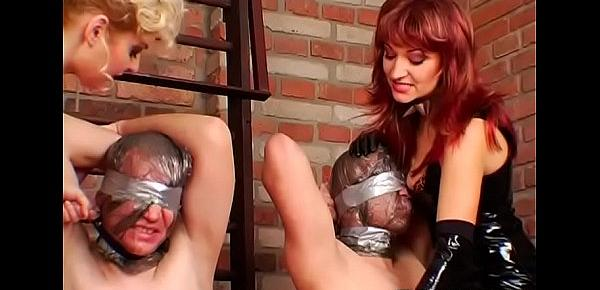 Sexy babe gets tied up in some real sexy bondage fetish action