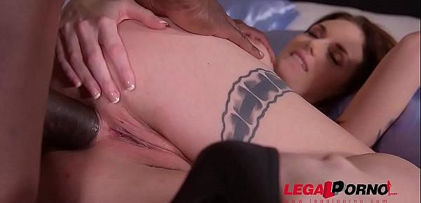 Interracial XXX anal porn with Marie Clarence makes you cum all over her GP293