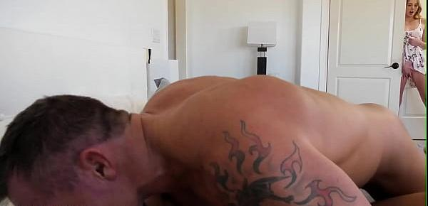 Horny busty milf pussy pounded