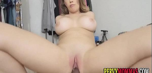 Horny milf slut riding dick pov style and getting fingered