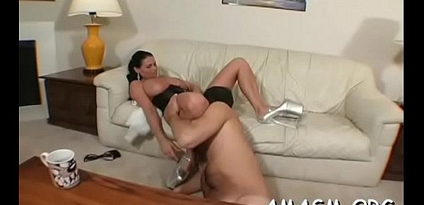 Needy ass milf with giant tits smothering porn with her man