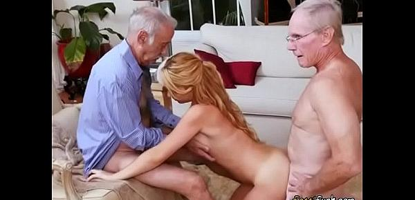 Teen Hoe Raylin Ann Gets Spit Roasted By Old Men
